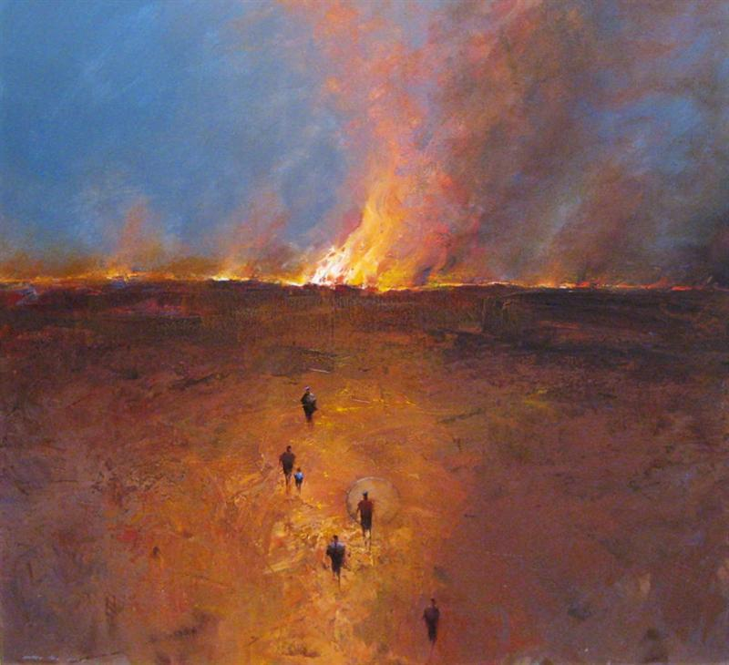 Escaping The Fires by artist Mel Brigg