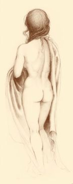 Giovanna Cattoi, Standing Nude - Back,  Ltd edition Paper Print